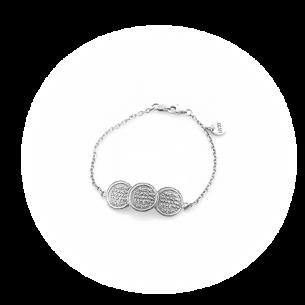 Pulsera Nómada Monedas Plata