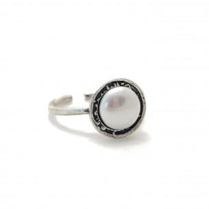 Anillo Plata Nómada perla